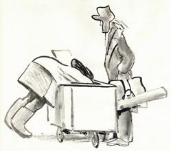 Е.Медведев. «Пирожки». Рисунок