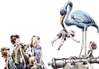 Ил. Е.Медведева к сказочной повести В.Крапивина «Дети синего фламинго»